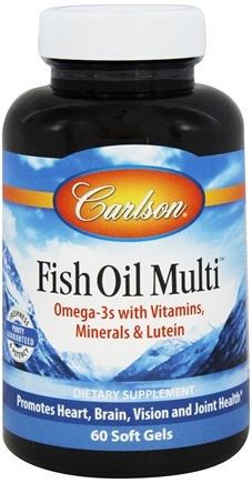 DROPPED: Carlson Labs - Fish Oil Multi Vitamins, Minerals, & Fish Oils - 60 Softgels CLEARANCE PRICED