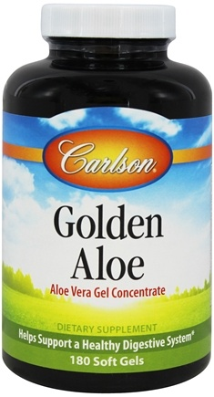 Carlson Labs - Golden Aloe (Aloe Vera Gel Concentrate) - 180 Softgels