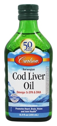 Carlson Labs - Norwegian Cod Liver Oil Regular Flavor - 8.4 oz.