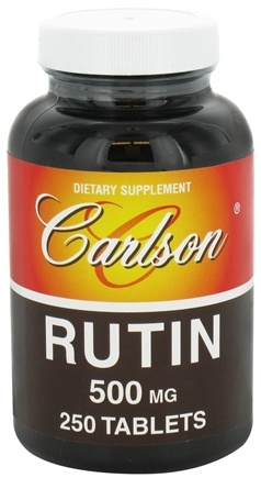 DROPPED: Carlson Labs - Rutin 500 mg. - 250 Tablets CLEARANCE PRICED