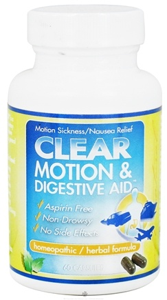 DROPPED: Clear Products - Clear Motion & Digestive Aid Homeopathic/Herbal Relief Formula - 60 Capsules CLEARANCE PRICED