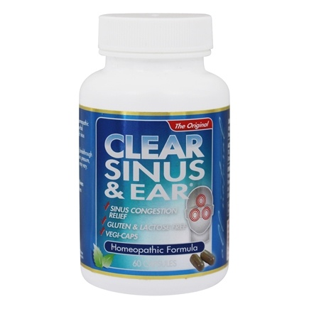 Clear Products - Clear Sinus & Ear Homeopathic/Herbal Relief Formula - 60 Capsules