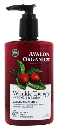 Avalon Organics - CoQ10 Repair Facial Cleansing Milk - 8.5 oz. (Formerly Cellular Renewing Wrinkle Defense Skin Care)
