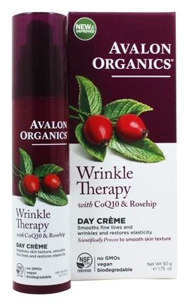 Avalon Organics - CoQ10 Repair Wrinkle Defense Creme - 1.75 oz. Wrinkle Therapy With CoQ10 & Rosehip Day Creme