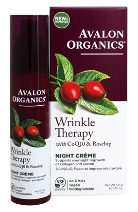 Avalon Organics - CoQ10 Repair Wrinkle Defense Night Cream - 1.75 oz. (Formerly Cellular Renewing Wrinkle Defense Skin Care)
