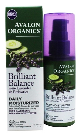 Avalon Organics - Lavender Luminosity Daily Moisturizer Unscented - 2 oz. (Formerly Renewal & Vitality)