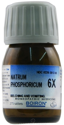 DROPPED: Boiron - Natrum Phosphoricum 6 X - 275 Tablets CLEARANCE PRICED