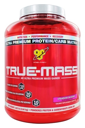 BSN - True-Mass Lean Mass Gainer Strawberry - 5.75 lbs.