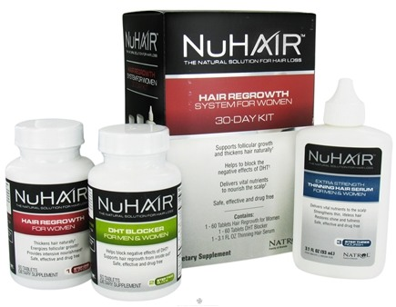DROPPED: Nu Hair - Hair Regrowth System for Women 30 Day Kit - Formerly by Biotech Labs