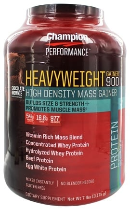 Champion Performance - Heavyweight Gainer 900 High Density Mass Gainer Chocolate Brownie - 7 lbs.