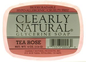 DROPPED: Clearly Natural - Glycerine Soap Tea Rose - 4 oz.