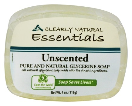 Clearly Natural - Glycerine Soap Bar Unscented - 4 oz.