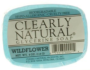 DROPPED: Clearly Natural - Glycerine Soap Wildflower - 4 oz.