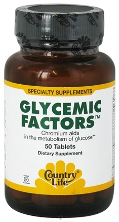 DROPPED: Country Life - Glycemic Factors - 50 Tablets Formerly Biochem CLEARANCE PRICED