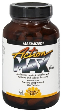 Country Life - Action Max for Men Maximized - 120 Tablets