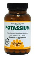 DROPPED: Country Life - Potassium 99 mg. - 100 Tablets