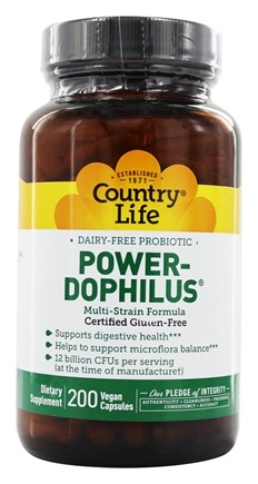 Country Life - Power-Dophilus - 200 Vegetarian Capsules