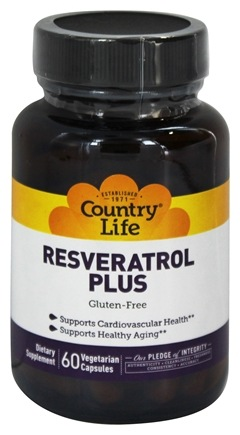 Country Life - Resveratrol Plus - 60 Vegetarian Capsules LUCKY DEAL