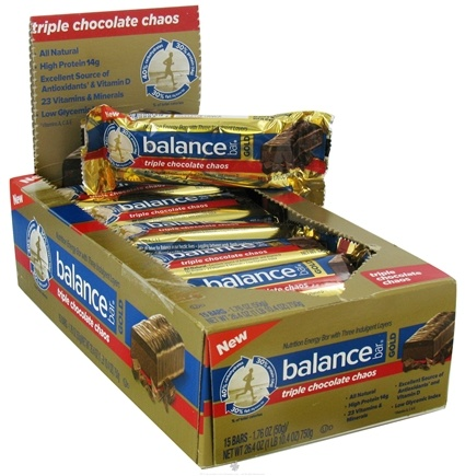 DROPPED: Balance - Nutrition Energy Bar Gold Triple Chocolate Chaos - 1.76 oz.