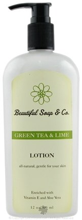 DROPPED: Beautiful Soap & Co. - Hand & Body Lotion Green Tea & Lime - 12 Oz.