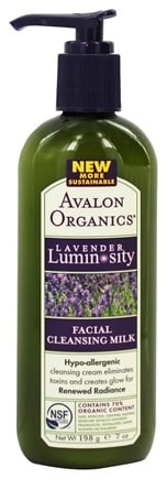 Avalon Organics - Lavender Luminosity Facial Cleansing Milk Unscented - 7 oz. (Formerly Renewal & Vitality)