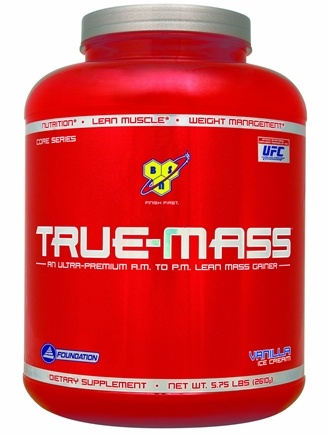 DROPPED: BSN - True-Mass Lean Mass Gainer Vanilla Ice Cream - 5.75 lbs. CLEARANCE PRICED