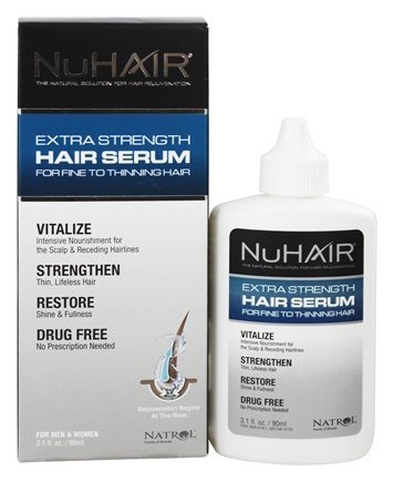 Nu Hair - Extra Strength Thinning Hair Serum For Men & Women - 3.1 oz. Formerly by Biotech Labs