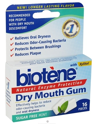 DROPPED: Biotene Dental - Dry Mouth Gum Natural Enzyme Protection - 16 Piece(s)