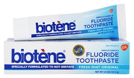 Biotene Dental - Gentle Formula Fluoride Toothpaste Fresh Mint Original - 4.3 oz.