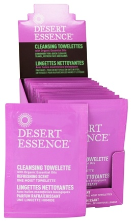 DROPPED: Desert Essence - Cleansing Towelettes With Organically Grown & Wild Crafted Ingredients Refreshing Scent - 1 Towelette(s)