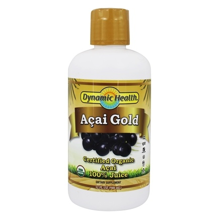 Dynamic Health - Acai Gold 100% Pure Organic Juice - 32 oz.