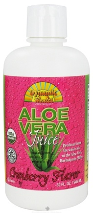 DROPPED: Dynamic Health - Aloe Vera Juice Cranberry - 32 oz. CLEARANCE PRICED