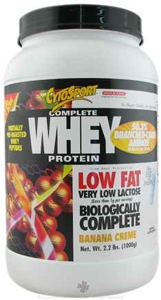 DROPPED: Cytosport - Complete Whey Protein Low Fat Banana Creme - 2.2 lbs.