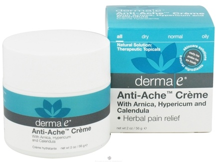 DROPPED: Derma-E - Anti-Ache Herbal Pain Relief Creme - 2 oz. CLEARANCE PRICED