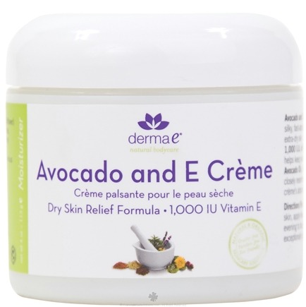 DROPPED: Derma-E - Avocado and E Creme Dry Skin Relief Formula 1000 IU - 4 oz.