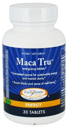 DROPPED: Enzymatic Therapy - Maca Tru Energizing Tablets - 30 Tablets CLEARANCE PRICED