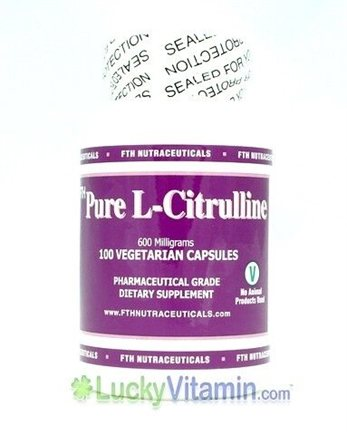 DROPPED: FTH Nutraceuticals - Pure L-Citrulline 600 mg. - 100 Vegetarian Capsules