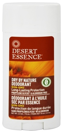 Desert Essence - Dry By Nature Deodorant With Chamomile & Calendula - 2.5 oz.