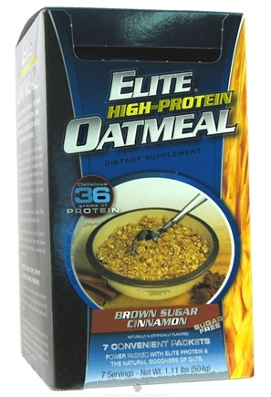 DROPPED: Dymatize Nutrition - Elite High Protein Oatmeal Brown Sugar Cinnamon - 7 Packet(s) CLEARANCE PRICED