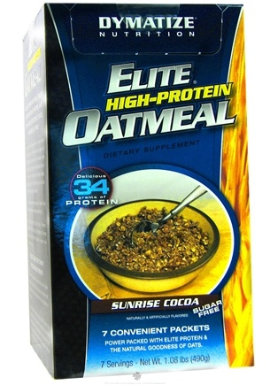 DROPPED: Dymatize Nutrition - Elite High Protein Oatmeal Sunrise Cocoa - 7 Packet(s)