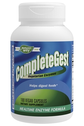 Enzymatic Therapy - CompleteGest Mealtime Enzyme Formula - 180 Vegetarian Capsules