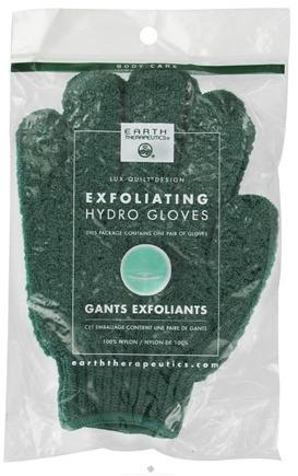 DROPPED: Earth Therapeutics - Exfoliating Hydro Gloves Forest Green - 1 Pair CLEARANCED PRICED