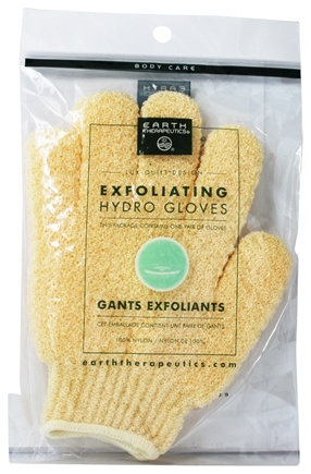 Earth Therapeutics - Exfoliating Hydro Gloves Natural - 1 Pair