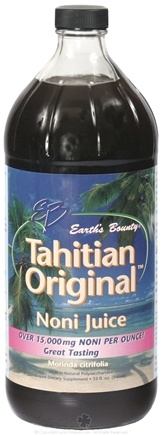 DROPPED: Earth's Bounty - Original Noni Juice from Tahiti  - 32 oz.