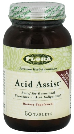 DROPPED: Flora - Acid Assist For Heartburn and Indigestion - 60 Tablets formerly Fruitin