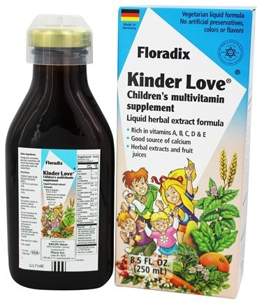 Flora - Floradix Kinder Love Childrens Multi Vitamin - 8.5 oz.