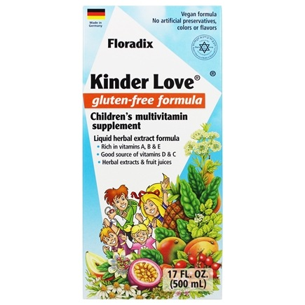 Flora - Floradix Kinder Love Childrens Multi Vitamin - 17 oz.
