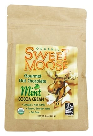 FunFresh Foods - Sweet Moose Gourmet Hot Chocolate Organic Cocoa Chocolate Mint - 8 oz.