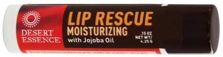 Desert Essence - Lip Rescue Moisturizing with Jojoba Oil - 0.15 oz. LUCKY PRICE
