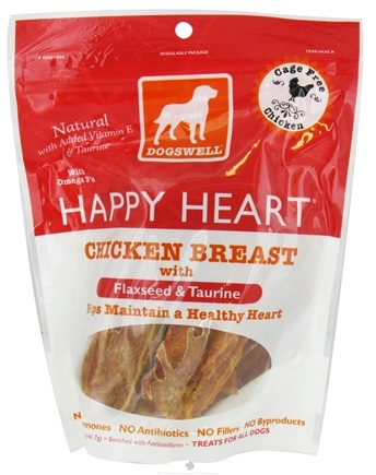 DROPPED: Dogswell - Happy Heart With Flaxseed & Taurine Chicken Breast - 5 oz. CLEARANCE PRICED